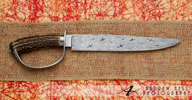 David Lisch Knife with hand gaurd